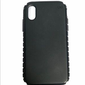 iPhone XR black speck case.